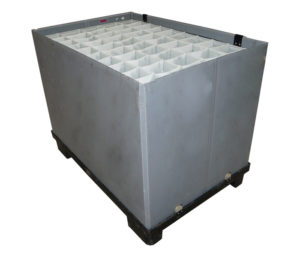 Interior plastic cladding component packing solution